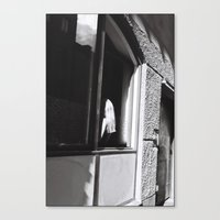Girl at the window, Stockholm 2012 Canvas Print