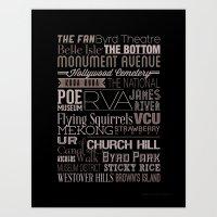 Richmond Type  Art Print