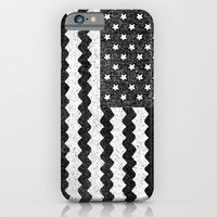 iPhone & iPod Case featuring Black Zig Zag Flag by Nick Nelson
