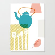 Blue Kettle Canvas Print