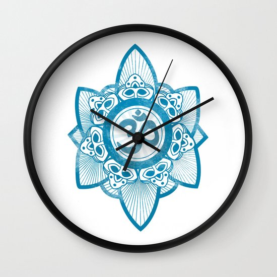 Ohm - Yoga Print Wall Clock
