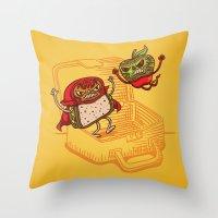 Lunchadores Throw Pillow