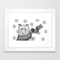 Cold days Framed Art Print
