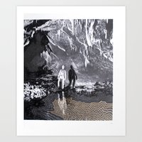 Cave Drawing I Art Print