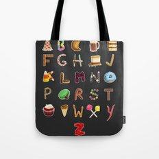 Dessert Alphabet  Tote Bag