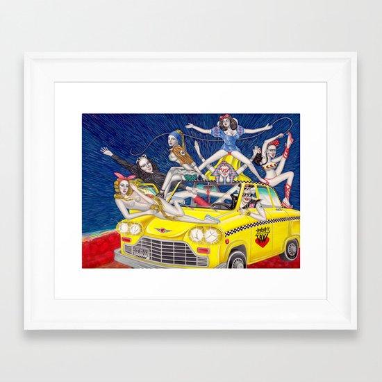 少女時代 - Girls Generation / Gouache Original A4 Illustration / Painting Framed Art Print