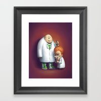 Mad About Basketball Framed Art Print
