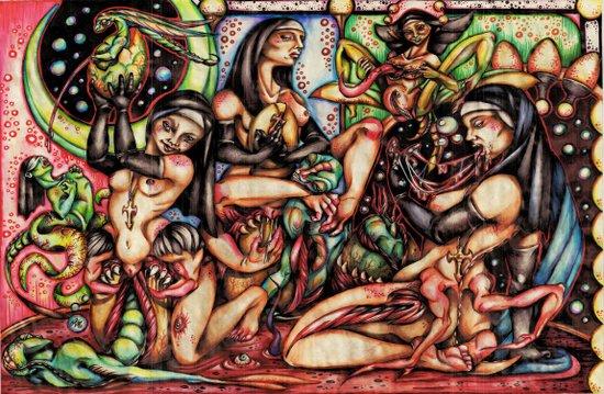 De Sade's Nuns Art Print