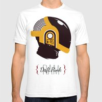 Daft Punk - RAM (Guy-Manuel) Mens Fitted Tee White SMALL