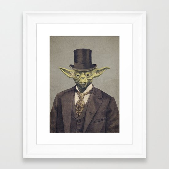 Sir Yodington  Framed Art Print