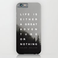 iPhone Cases featuring Adventure or Nothing by Zeke Tucker
