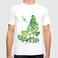 Dragonfly One SMALL Mens Fitted Tee White
