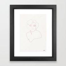 One line Marilyn Monroe Framed Art Print