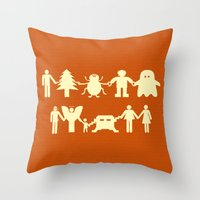 Let's Get Along Throw Pillow