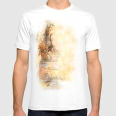 Cat's Stroll SMALL White Mens Fitted Tee