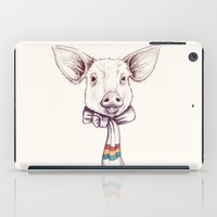 Pig And Scarf iPad Case