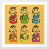 matryoshka dolls Art Print