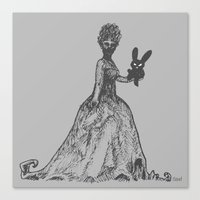 The Black Bunny of Doom and his Date Canvas Print