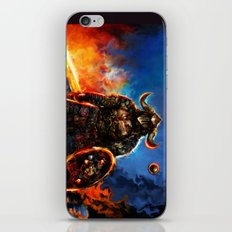 viking and his droid iPhone & iPod Skin