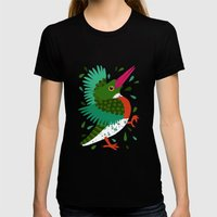 Kingfisher Womens Fitted Tee Black SMALL