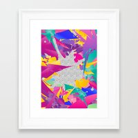 80s Abstract Framed Art Print