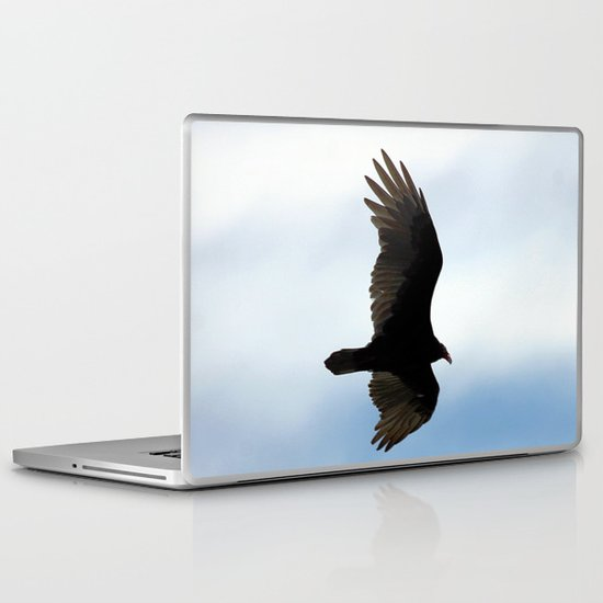 Turkey Vulture in Flight Laptop & iPad Skin