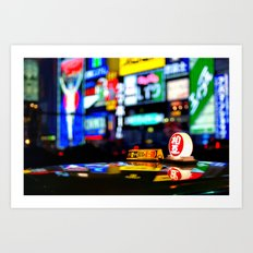 Osaka Japan Night Lights Art Print