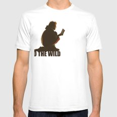 INTO THE WILD White Mens Fitted Tee SMALL