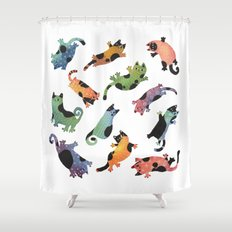 12 Cats Shower Curtain