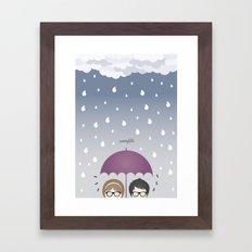 Oh, rainy day! Framed Art Print
