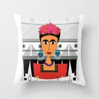 qué haría Frida? Throw Pillow