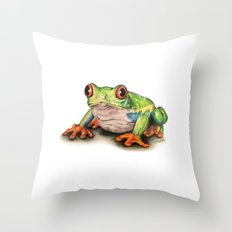 Jeremiah The Frog Throw Pillow