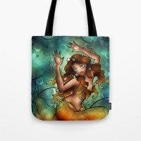A Siren Caught Tote Bag