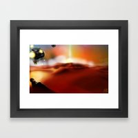 Illuminated Planet Framed Art Print