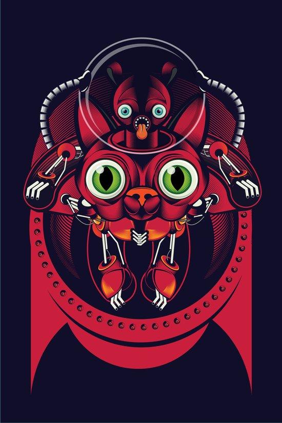 robo cat Art Print