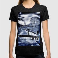 Canal Evenings Womens Fitted Tee Tri-Black SMALL