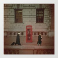 London's Red Phone Box. Canvas Print