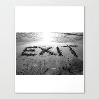 Exit Loss Canvas Print
