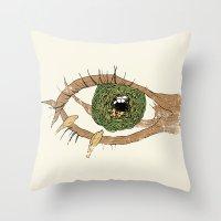 The Eye Of The Bird Throw Pillow