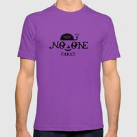 No One Cares Mens Fitted Tee Ultraviolet SMALL