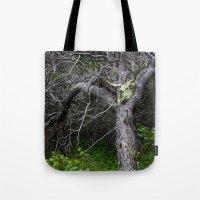 Forest Spirit Skull Tote Bag