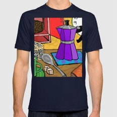 Moka Pot Joy Mens Fitted Tee Navy SMALL