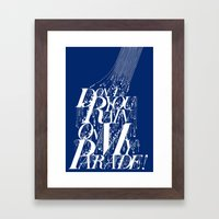 Don't You Rain On My Parade! Framed Art Print