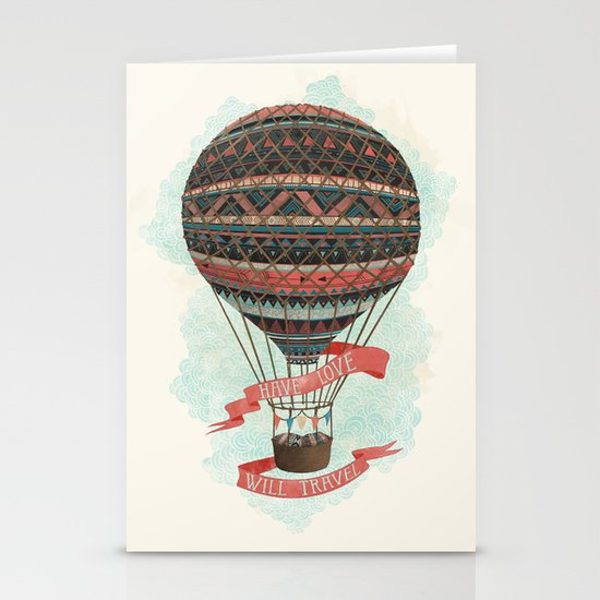 have love, will travel Stationery Card