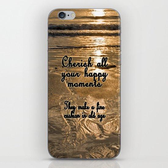 Cherish the Moment iPhone & iPod Skin