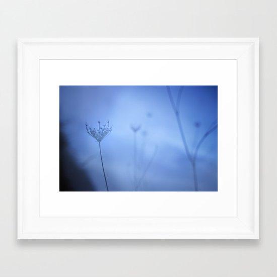 Blue hour in the paradise Framed Art Print