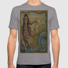 Mermaid Island Mens Fitted Tee Athletic Grey SMALL