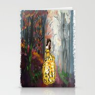 Belle In The Enchanted F… Stationery Cards