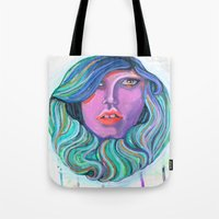 Pretty Oceanic Ombre Face Tote Bag