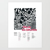 Día de los Difuntos (Day of the Dead) Art Print
